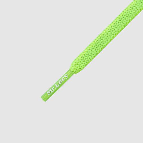 neon lime yellow 90 cm Long Laces Mr Lacy Flexies Elastic Shoe Laces